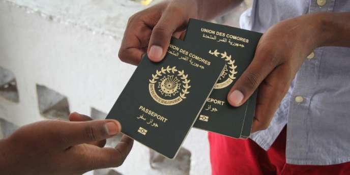 Des passeports comoriens à Moroni, le 9avril 2018.