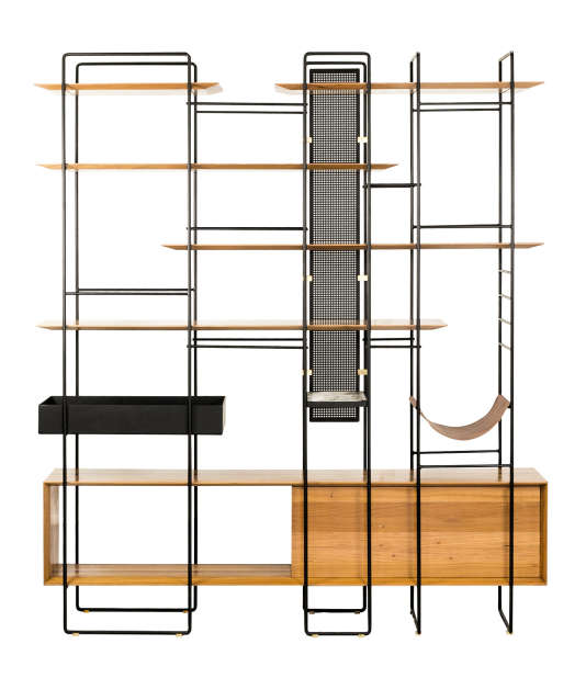 Bibliothèques Plana en matériau de construction du trio d'architectes cariocas F. Studio.