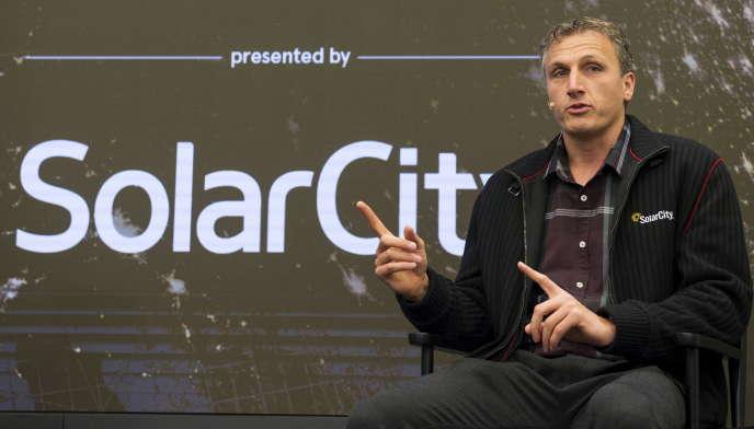 Lyndon Rive, cofondateur de Solarcity, à Manhattan (New York), en octobre 2015.