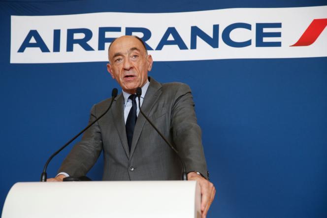 Jean-Marc Janaillac, PDG démissionnaire d'Air France-KLM, à Paris, le 4 mai.