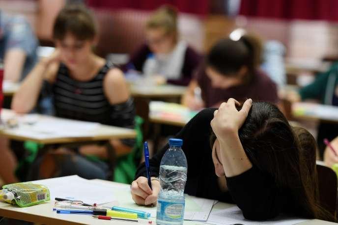 L'épreuve de philosophie au bac 2017 dans un lycée de Strasbourg.
