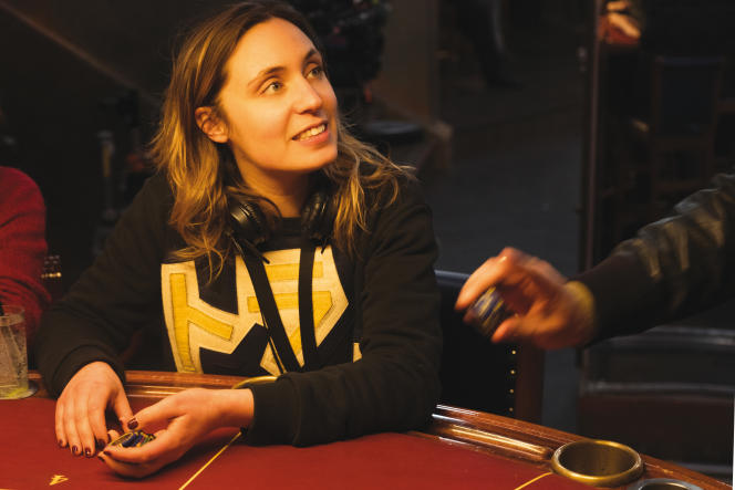 Marie Monge auPalace, à Paris, sur le tournage du film « Joueurs», endécembre 2017.