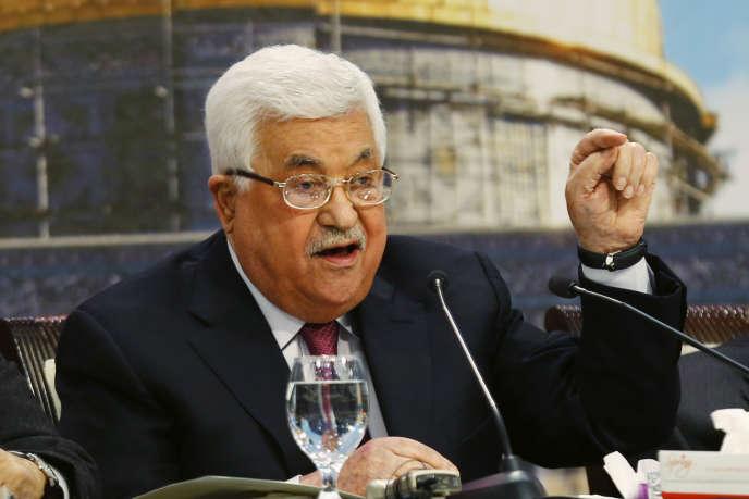 Mahmoud Abbas, le 30avril, devant le Conseil national palestinien,le Parlement de l'Organisation de libération de la Palestine.