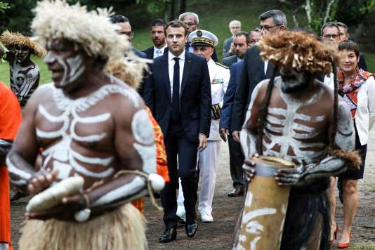 Emmanuel Macron à Noumea le 5mai.