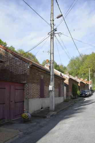Le quartier des corons où étaient logés des mineurs. Un projet de mise en valeur de ce patrimoine est en cours de discussion.