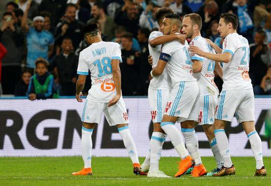 Les Marseillais ont battu Nice dimanche6mai au Stade-Vélodrome.