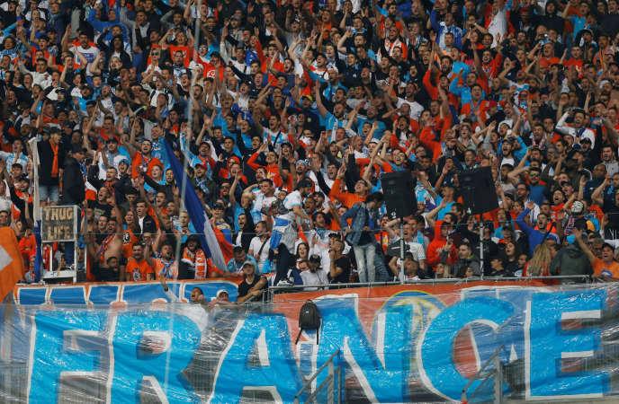 Des supporteurs de l'OM lors du match face à Nice, le 6 mai 2018.