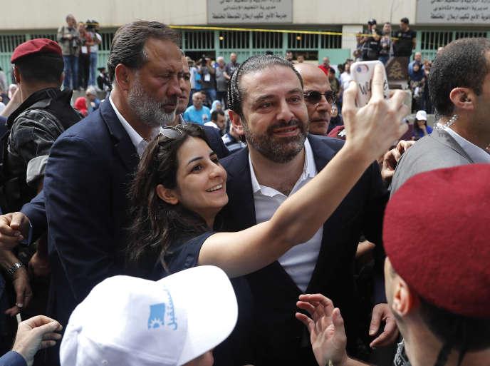 Le premier ministre libanais Saad Hariri a voté à Beyrouth dimanche 6 mai.