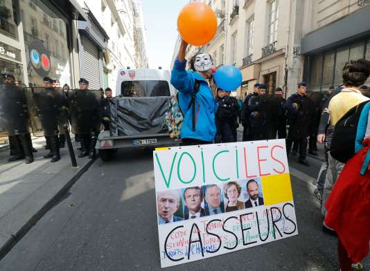 Lors de« la Fête à Macron», à Paris, le 5 mai.
