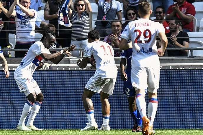 Bertrand Traoré a inscrit un doublé pour l'OL dimanche6mai en Ligue 1.