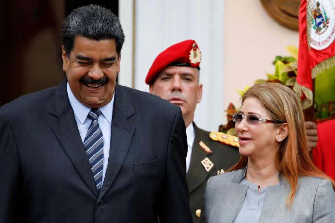 Le président vénézuélien Nicolas Maduro et sa femme Cilia, le 7 mai au palais Miraflores de Caracas.