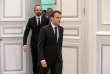 Le président de la République Emmanuel Macron suivi du premier ministre, Edouard Philippe, le 23 mars 2018.