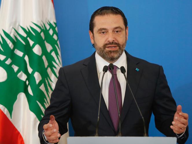 Le premier ministre libanais, Saad Hariri, lors d'une conférence de presse à Beyrouth le 7 mai.