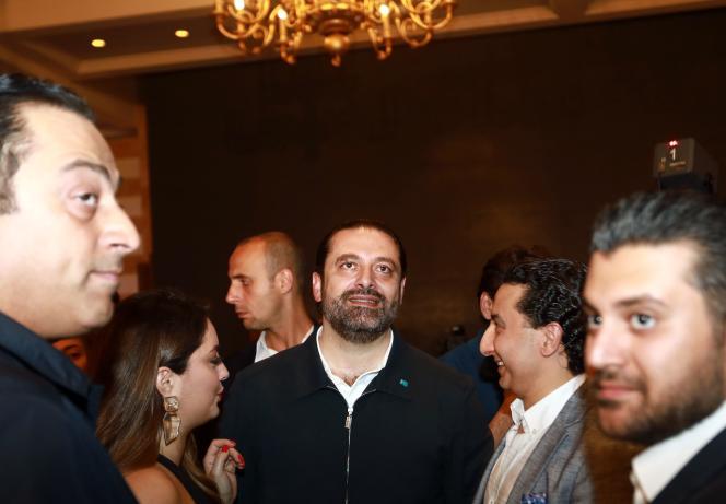 Saad Hariri attend les résultats des législatives, à Beyrouth, le 6 mai.