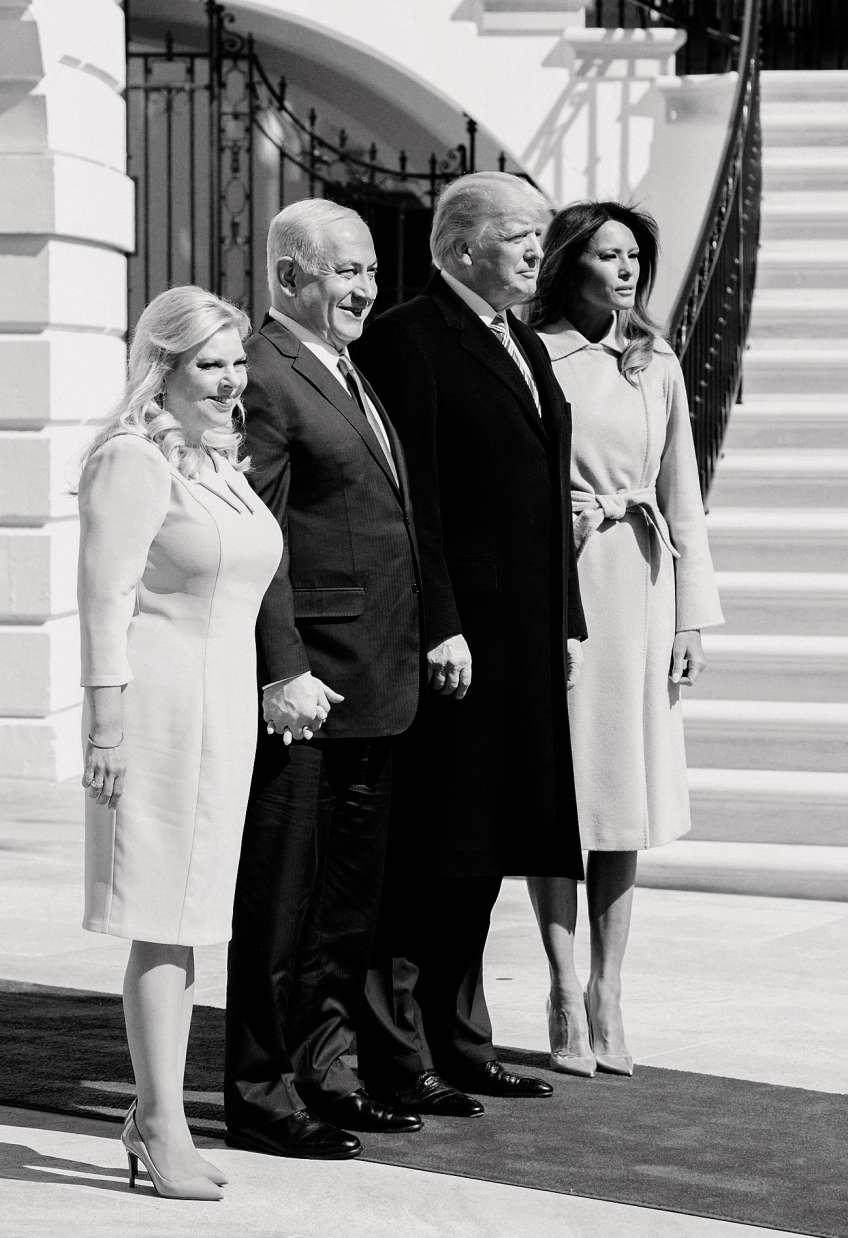 Le 5 mars 2018, avec Donald et Melania Trump à Washington.