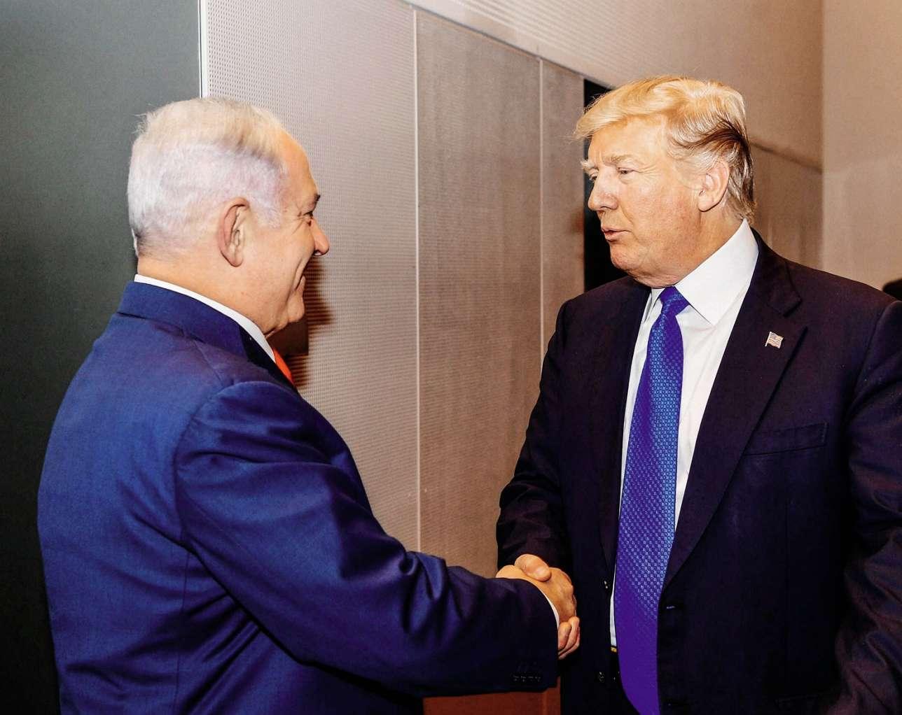 En janvier 2018, une rencontre entre le président Trump et Benyamin Nétanyahou pendant le forum de Davos.