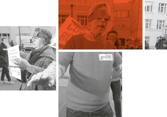 Des manifestants réclament plus de transparence, alors que commence le procès de LuxLeaks au Luxembourg, le 26 avril 2016.