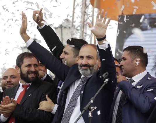 Le nouveau premier ministre d'Arménie, Nikol Pachinian, le 8 mai 2018.