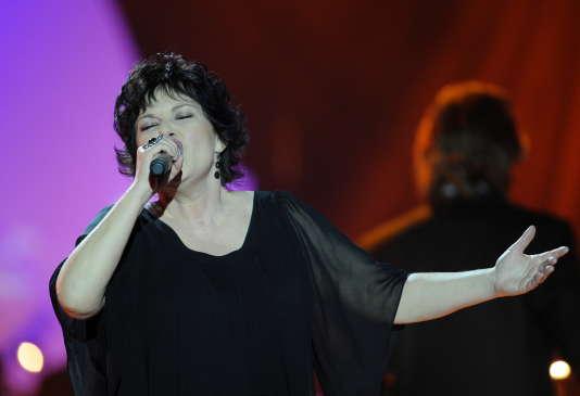 Maurane, lors des 25esVictoires de la musique, le 6 mars 2010, au Zénith, à Paris.