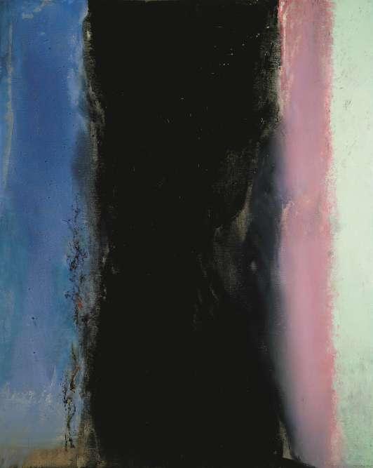 """«Cette œuvre reprend la composition structurelle de """"Porte-fenêtre à Collioure"""" que Matisse a peint en 1914. Zao Wou-ki vouait au peintre et à ce tableau une admiration sans borne. """"Ce silence est noir"""", écrit Henri Michaux dans le premier poème inspiré par Zao Wou-ki.»"""