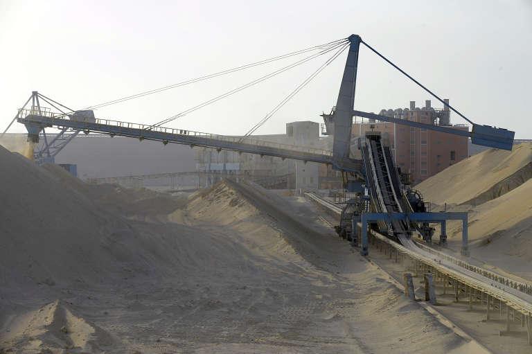 Une usine de phosphate près de Laâyoune, au Sahara occidental.