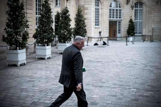 Gérard Larcher, à Matignon, le 14mars.