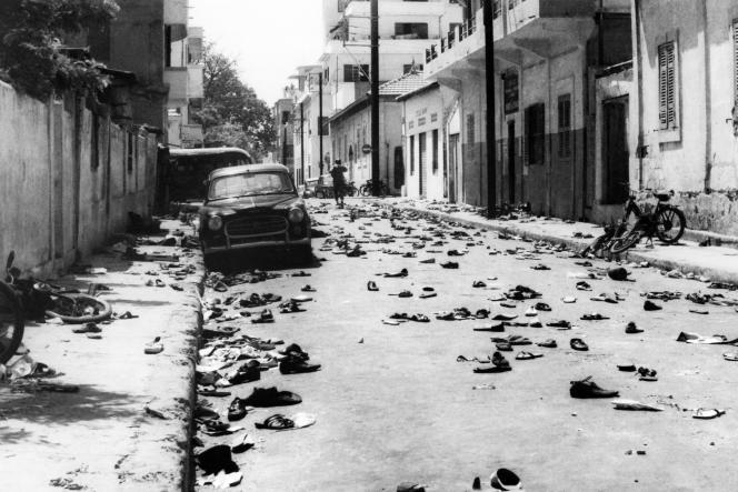 Après une manifestation ayant donné lieu à des affrontements entre les étudiants et travailleurs et les forces de l'ordre, à Dakar, le 31mai 1968.