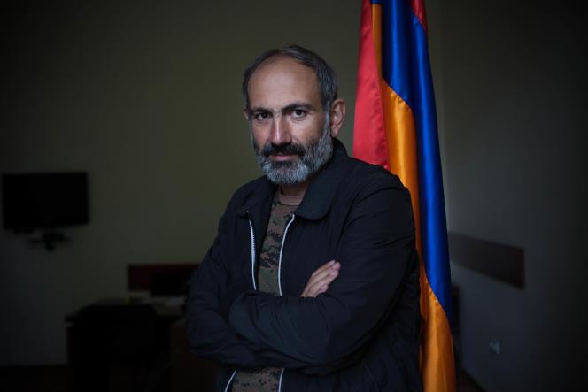 Nikol Pachinian, au Parlement arménien à Erevan.