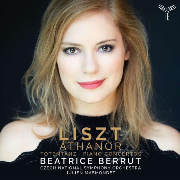 Pochette de l'album«Athanor - Totentanz. Piano Concertos»,consacré à Franz Liszt par Beatrice Berrut.
