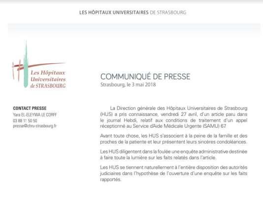 Strasbourg : Elle décède peu après avoir alerté, en vain, le Samu