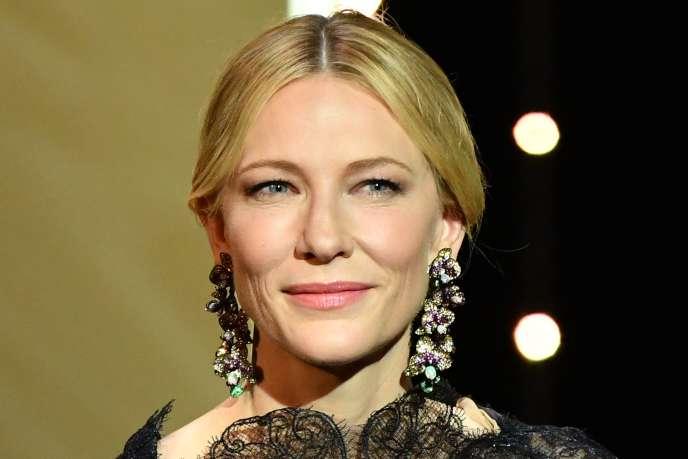 L'actrice Cate Blanchett, présidente du jury, lors de la cérémonie d'ouverture du 71e Festival de Cannes, le 8 mai 2018.