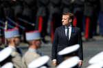 Emmanuel Macron lors ces commémorations du 8-Mai, à Paris.
