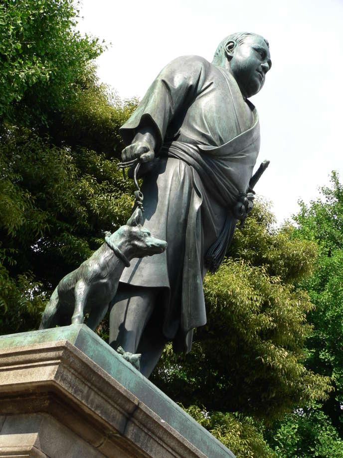 La statue de Takamori Saigo au parc d'Ueno, à Tokyo, en mai 2007.