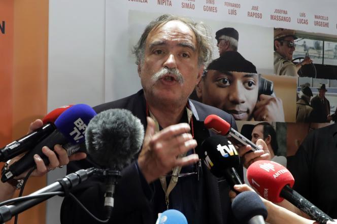Le producteur portugais Paulo Branco lors d'une conférence de presse à Cannes, le 9mai.