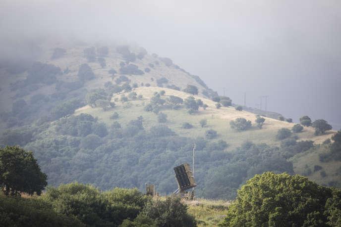 Un système de défense antimissile israélien a été installé sur le plateau du Golan occupé par Israël, le 9mai.