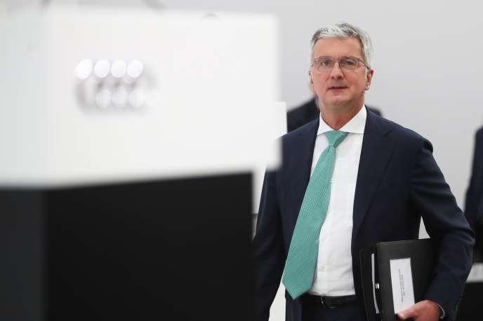 Le patron d'Audi, Rupert Stadler, à Ingolstadt, en Bavière, le 9 mai.