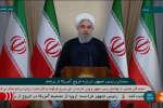 Le président iranien lors d'une conférence de presse organisée après l'annonce du retrait des Etats-Unis de l'accord nucléaire iranien.