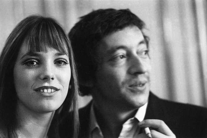 Le couple français mythique Serge Gainsbourg et Jane Birkin, en 1969.