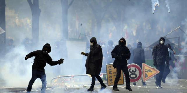 Violences en marge du défilé du 1er Mai 2018 à Paris.