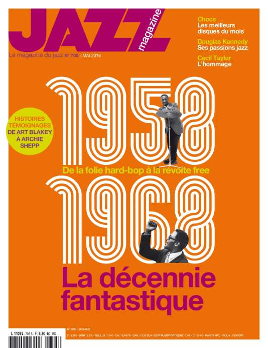 Couveture de «Jazz magazine», n° 705, mai2018.