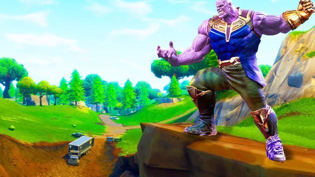 Thanos, le méchant du dernier Marvel, apparaît désormais dans«Fortnite».