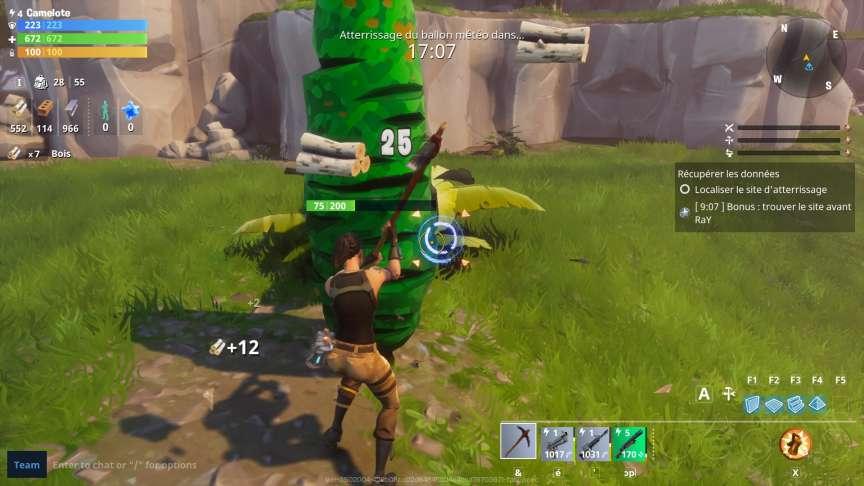 Le simple nombre de bûches s'affichant à l'écran peut tromper le joueur sur le rythme de sa collecte de bois.