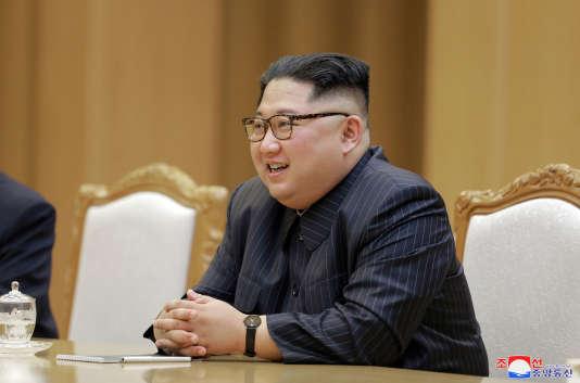 Le dirigeant nord-coréen, Kim Jong-un, le 9 mai 2018.