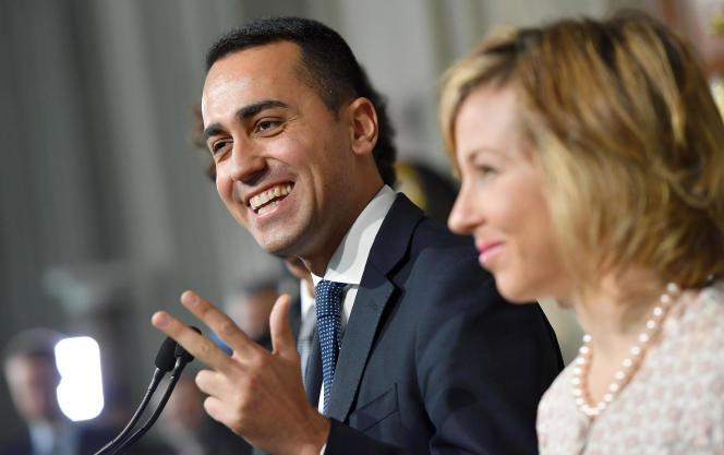 Luigi Di Maio, dirigeant du Mouvement 5 étoiles, lors d'une conférence de presse tenue au palais présidentiel, à Rome, le 7 mai.