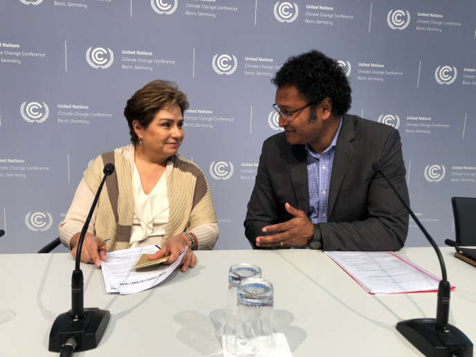 La cheffe de l'agence de l'ONU sur le changement climatique, Patricia Espinosa, à Bonn, le 10 mai.