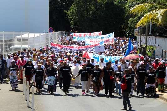 Manifestation à Mamoudzou, le 10 mai 2018.