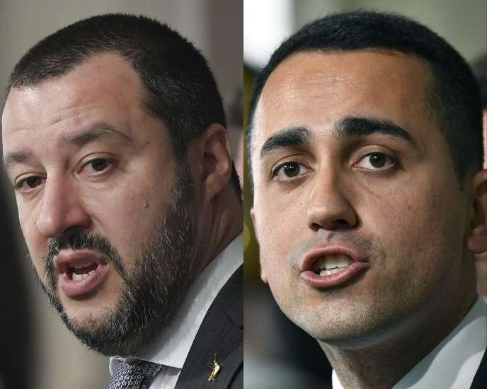 Matteo Salvini, chef de file de la Ligue, etLuigi Di Maio, du Mouvement 5 étoiles.