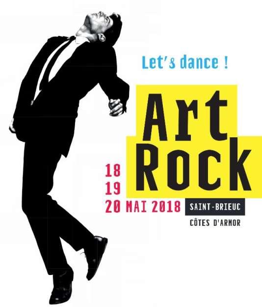 Affiche du festival Art Rock, à Saint-Brieuc.