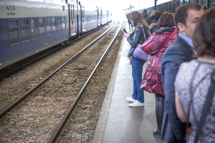 Gare Saint-Lazare à Paris, le jour de la grève du 2 mai des employés de la SNCF, contre la réforme proposée par le gouvernement.