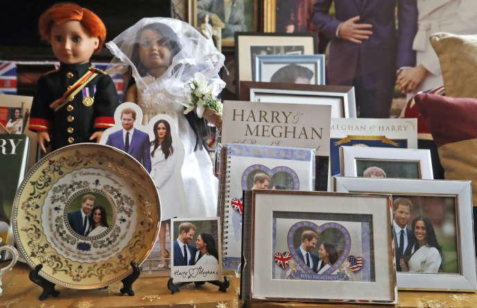 Un« autel» à la gloire du prince Harry et de Meghan Markle, dans un bed & breakfast de Londres.